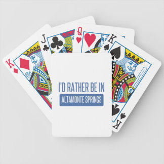 I'd rather be in Altamonte Springs Bicycle Poker Deck