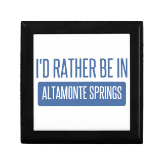 I'd rather be in Altamonte Springs Small Square Gift Box