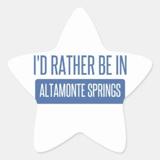 I'd rather be in Altamonte Springs Star Sticker