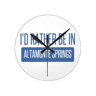I'd rather be in Altamonte Springs Wallclock