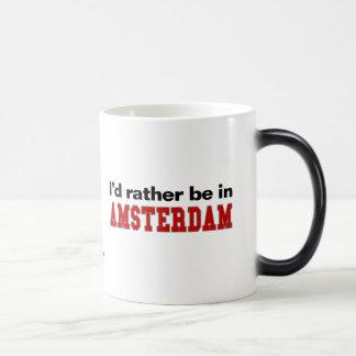 I'd Rather Be In Amsterdam Magic Mug