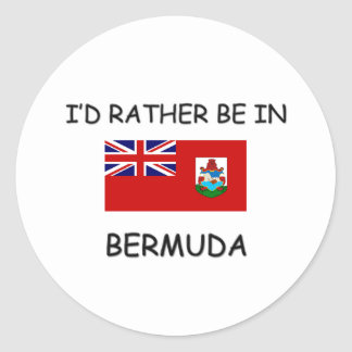 I'd rather be in Bermuda Classic Round Sticker