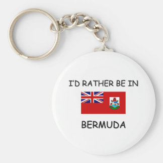 I'd rather be in Bermuda Key Ring
