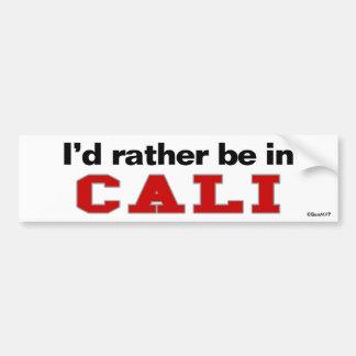 I'd Rather Be In Cali Car Bumper Sticker