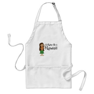 I'd Rather Be in Hawaii Standard Apron