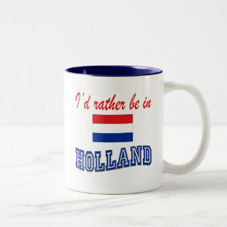 I'd Rather Be In Holland Two-Tone Coffee Mug