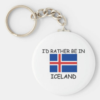 I'd rather be in Iceland Key Ring