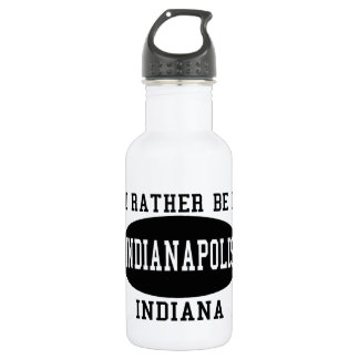 I'd Rather Be in Indianapolis 18oz Water Bottle