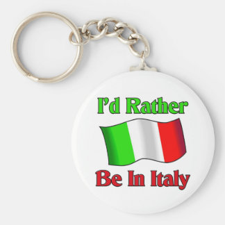 I'd Rather be in Italy Basic Round Button Key Ring