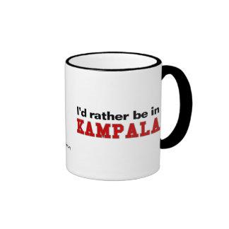I'd Rather Be In Kampala Ringer Mug