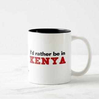I'd Rather Be In Kenya Two-Tone Coffee Mug