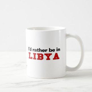 I'd Rather Be In Libya Basic White Mug