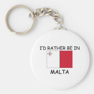 I'd rather be in Malta Key Ring