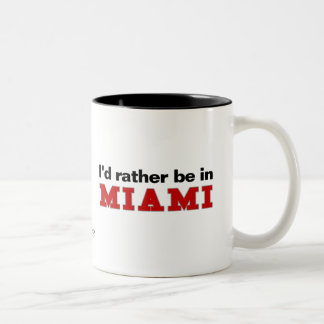 I'd Rather Be In Miami Two-Tone Coffee Mug