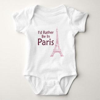 I'd Rather Be In Paris Baby Bodysuit