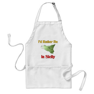 I'd Rather Be In Sicily. Adult Apron