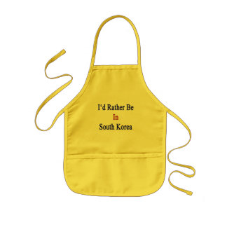 I'd Rather Be In South Korea Kids Apron
