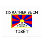 I'd rather be in Tibet Postcard