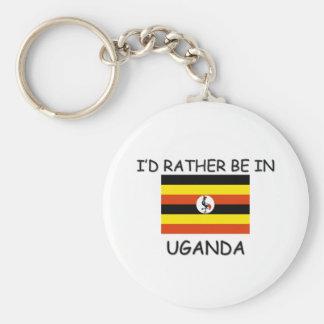 I'd rather be in Uganda Key Ring