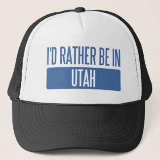 I'd rather be in Utah Trucker Hat