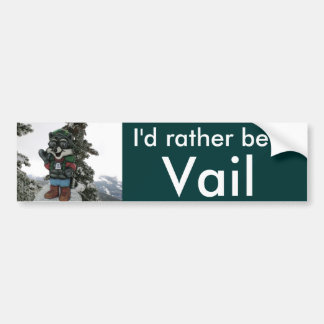 I'd Rather Be in Vail Snow Car Bumper Sticker