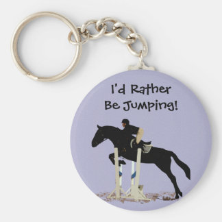 I'd Rather Be Jumping! Horse Basic Round Button Key Ring