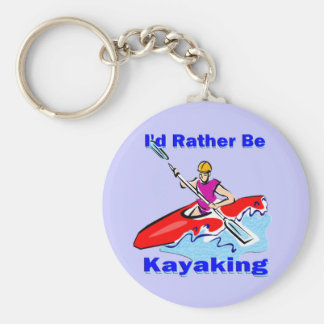 I'd Rather Be Kayaking 1 Key Ring