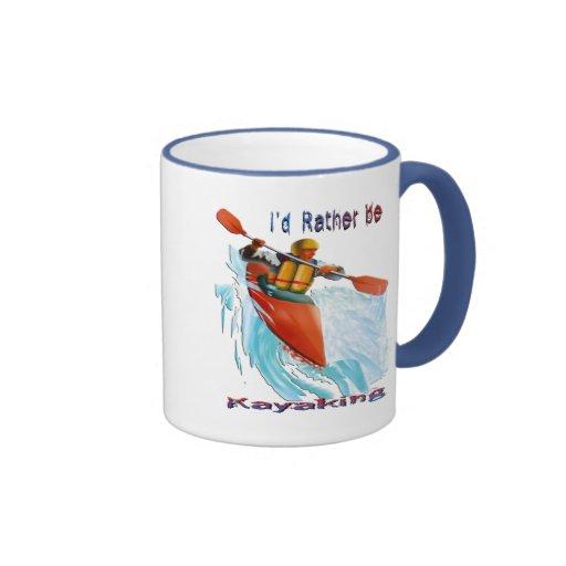 I'd Rather be Kayaking 2 Coffee Mugs