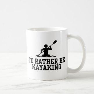 I'd rather be Kayaking Basic White Mug