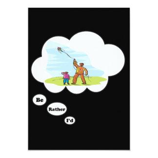 I'd rather be Kite Flying 13 Cm X 18 Cm Invitation Card