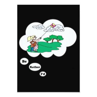 I'd rather be Kite Flying 3 13 Cm X 18 Cm Invitation Card