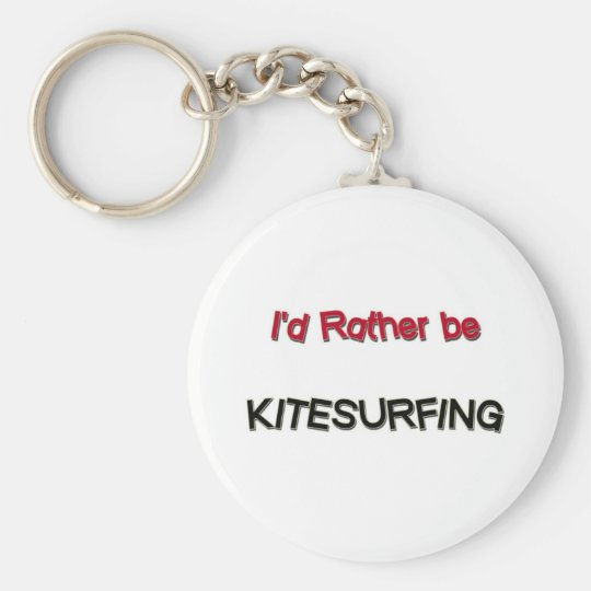 I'd Rather Be Kitesurfing Basic Round Button Key Ring