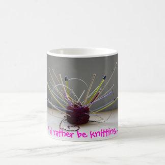 I'd rather be knitting... coffee mug