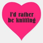 I'd Rather Be Knitting Heart Sticker