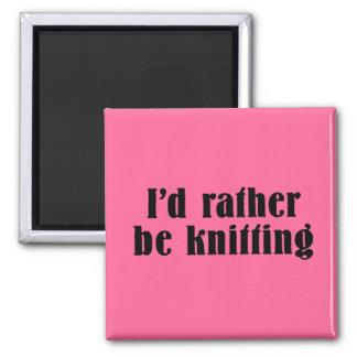 I'd Rather Be Knitting Fridge Magnet