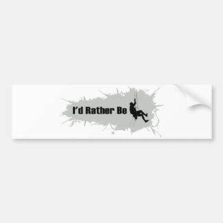 I'd Rather Be Mountain Climbing 1 Bumper Sticker