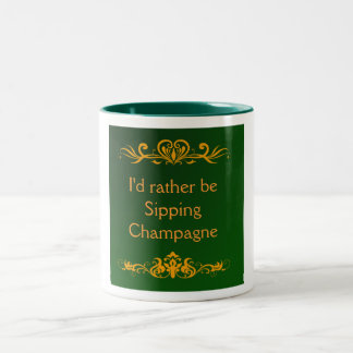 I'd rather be...Mug Two-Tone Coffee Mug