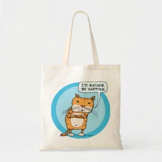 I'd Rather Be Napping Cat Tote Bag