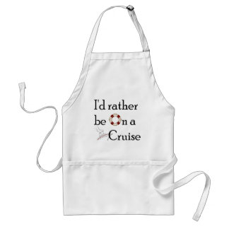 I'd Rather Be On A Cruise Aprons