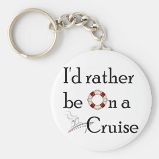 I'd Rather Be On A Cruise Key Ring