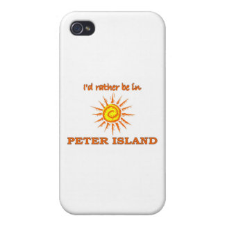 I'd Rather Be on Peter Island Case For iPhone 4