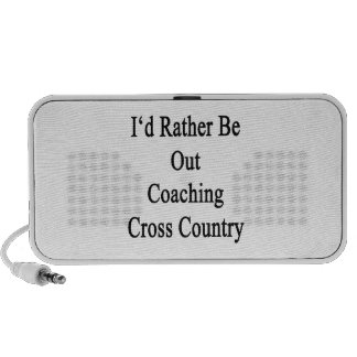 I'd Rather Be Out Coaching Cross Country Notebook Speaker