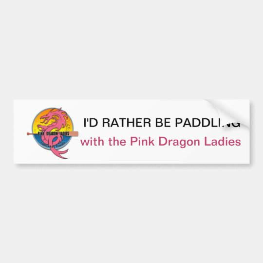 I'd Rather Be Paddling Bumper Sticker