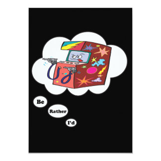 I'd rather be playing Arcade Games 13 Cm X 18 Cm Invitation Card