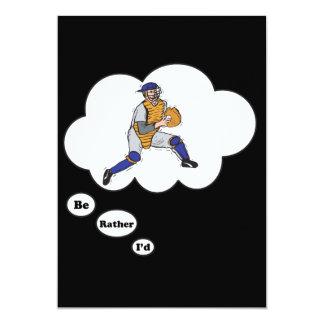 I'd rather be playing Baseball 3 13 Cm X 18 Cm Invitation Card