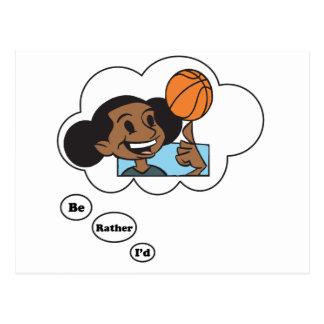 I'd rather be playing Basketball 3 Postcard