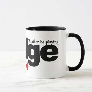 I'd Rather Be Playing Bridge mug - choose style