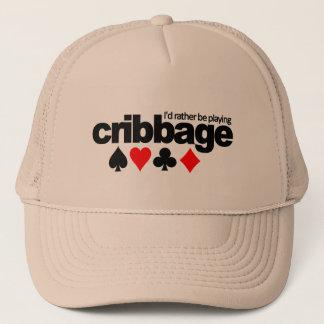 I'd Rather Be Playing Cribbage hat - choose color