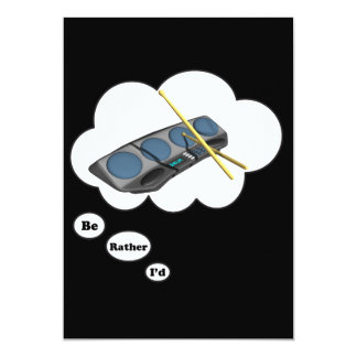 """i'd rather be playing Drum Machines 2 5"""" X 7"""" Invitation Card"""