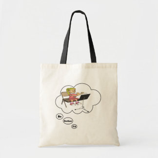 i'd rather be playing Flute 2 Budget Tote Bag